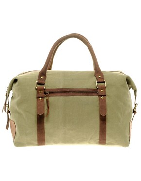 Image 1 ofASOS Canvas &amp; Leather Holdall
