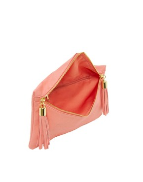 Image 2 of ASOS Clutch Bag With Double Tassel Zip