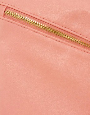 Image 4 of ASOS Clutch Bag With Double Tassel Zip
