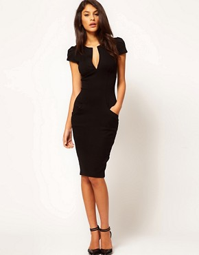 Image 4 ofASOS Sexy Pencil Dress with Pockets