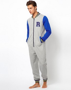 Image 4 ofRiver Island Varsity Onesie