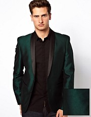 ASOS Slim Fit Suit Jacket in Tonic