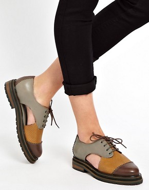 Image 3 ofASOS MATLOCK Leather Flats Shoes