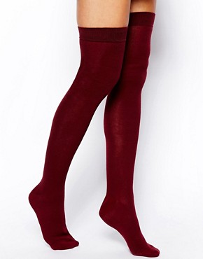 Image 1 ofASOS Over The Knee Socks