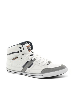 Image 1 ofJack &amp; Jones Brandon Hi-Top Trainers