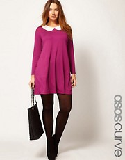ASOS CURVE Swing Dress with Peterpan Collar