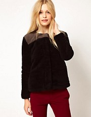 b + ab Teddy Fur Bomber