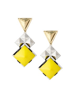 Image 1 ofASOS Pyramid Stone Drop Earrings