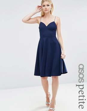 ASOS PETITE Scuba Strappy Mini Skater Dress
