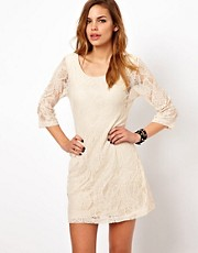 Vero Moda Lace Dress With 3/4 Sleeves