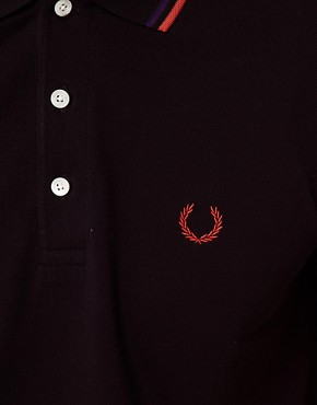 Image 3 ofFred Perry Laurel Wreath Polo Shirt Japanese Tipped