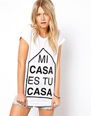 ASOS T-Shirt with Mi Casa es Tu Casa Print