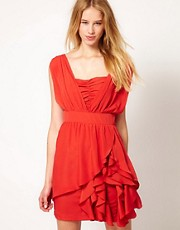 Jovonna Dress With Ruffle Skirt
