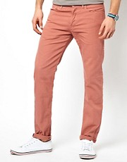 Paul Smith Jeans Tapered Jeans in Garment Dyed Denim