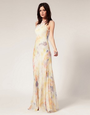 Image 1 ofGestuz Silk Tie Dye Maxi Dress