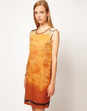 The Only Son Mirage Shift Dress in Printed Jersey