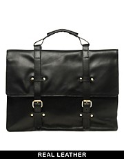 ASOS  Old Boy  Leder-Satchel