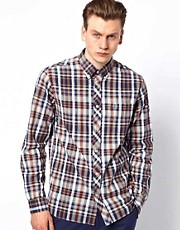 Fred Perry Shirt with Madras Check