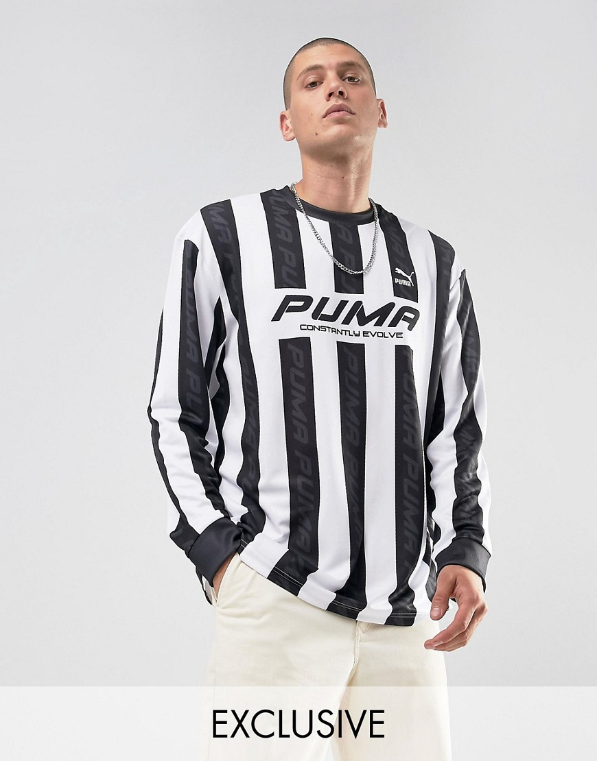 Puma Retro Football Jersey In Black Exclusive to ASOS 57660201 - Black