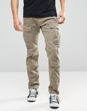 G-Star Cargo Trousers Rovic Slim Fit Stretch Twill Beige Overdye