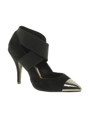 Image 1 ofASOS PACEY High Heels with Metal Toe Cap