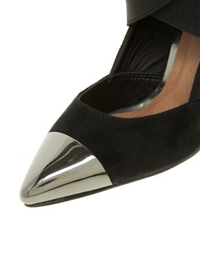 Image 4 ofASOS PACEY High Heels with Metal Toe Cap