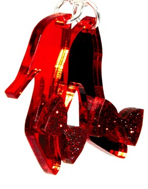 Image 4 ofTatty Devine Ruby Slippers Necklace