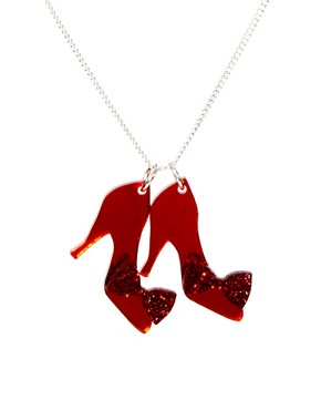 Image 1 ofTatty Devine Ruby Slippers Necklace