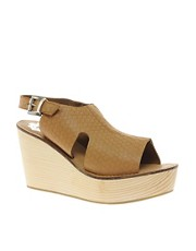 Sole Society Mira Leather Wedge Sandal