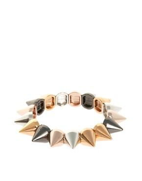 Image 1 ofASOS Spike Stretch Bracelet