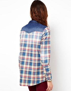 Image 2 ofRiver Island Check Long Sleeve Boyfriend Shirt