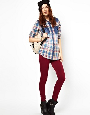 Image 4 ofRiver Island Check Long Sleeve Boyfriend Shirt