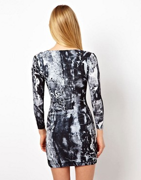 Image 2 ofFactory by Erik Hart Jersey Dress With Shoulder Cut Outs