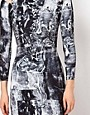 Image 3 ofFactory by Erik Hart Jersey Dress With Shoulder Cut Outs