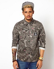 The Hundreds Shirt Long Sleeve Splatter Camo