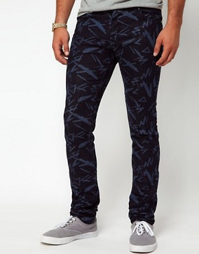 Image 1 ofASOS Super Skinny Jeans With Print