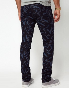 Image 2 ofASOS Super Skinny Jeans With Print
