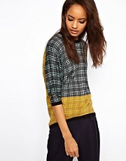 ASOS Premium Jumper In Blocked Fine Knit