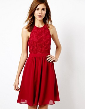 Warehouse Lace Bodice Floaty Dress