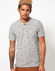 Carhartt Polo Duck Print Slim Fit Pique