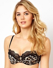 Ultimo A-D Valentina Leopard Balconette Bra