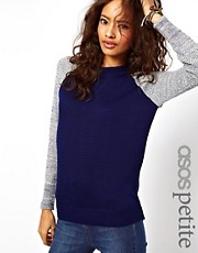 ASOS PETITE Exclusive Jumper With Contrast Sleeves