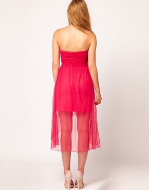 Image 2 ofRare Bandeau Dress With Dipped Hem