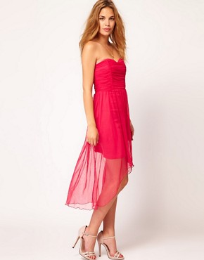 Image 4 ofRare Bandeau Dress With Dipped Hem