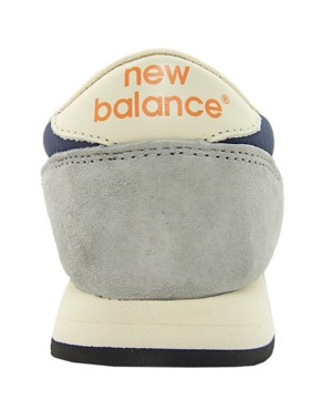 Image 2 ofNew Balance 420 Navy Suede Trainers