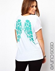 ASOS CURVE T-Shirt with Cut Wings