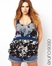ASOS Curve Exclusive Abstract Print Vest