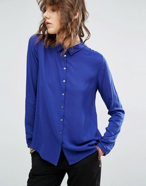 Maison Scotch Soft Viscose Shirt With Star Buttons