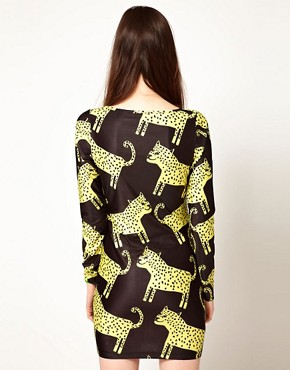 Image 2 of Lazy Oaf Exclusive Leopards Body-Conscious Dress
