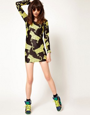 Image 4 of Lazy Oaf Exclusive Leopards Body-Conscious Dress